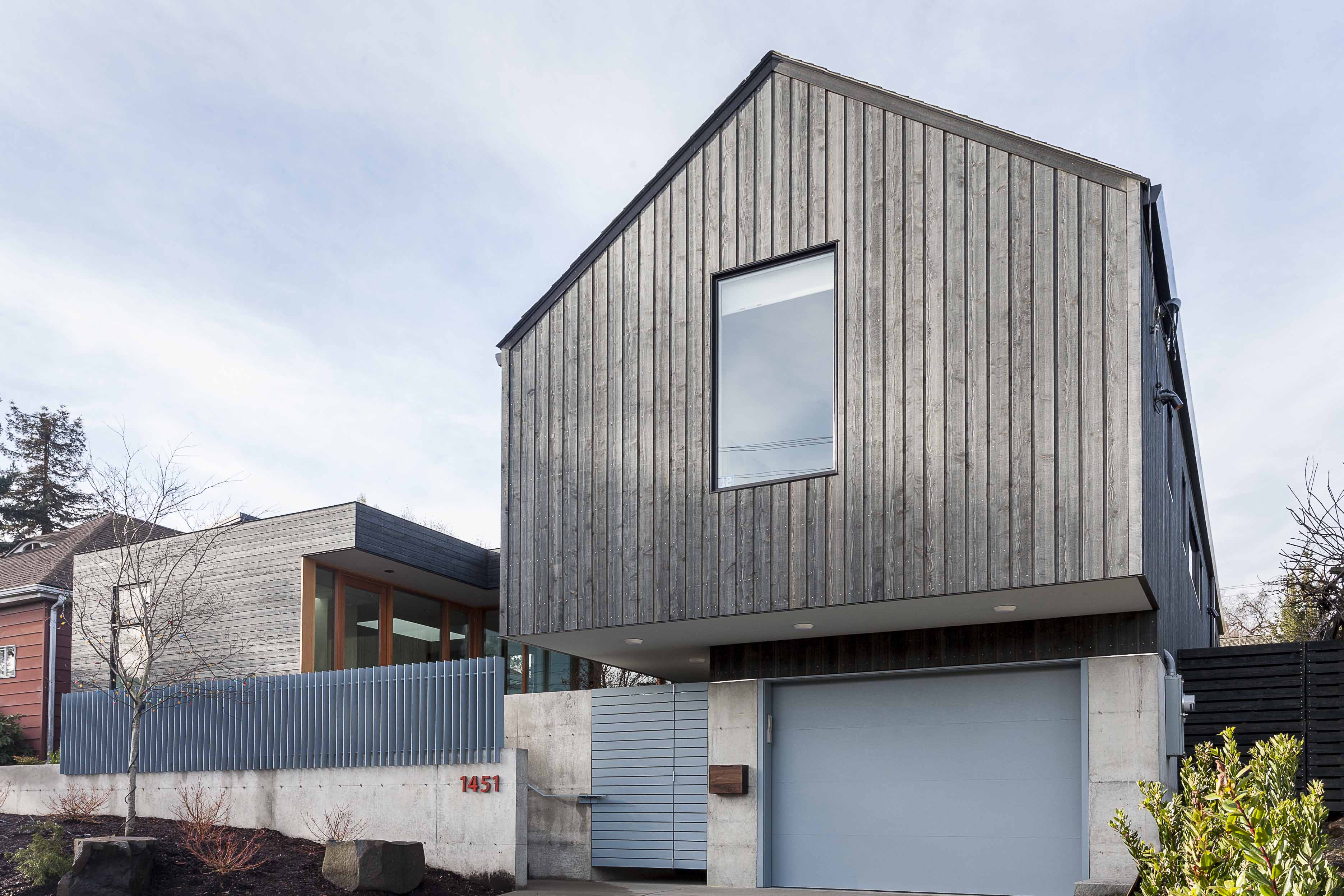 A Seattle home's cantilevered gable