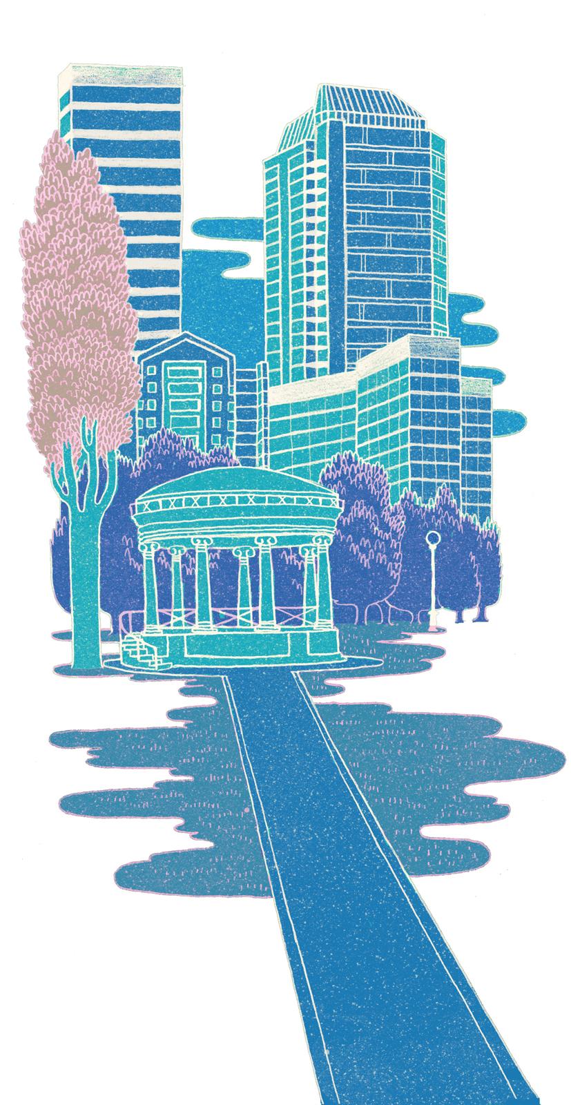 101 boston commons illustration