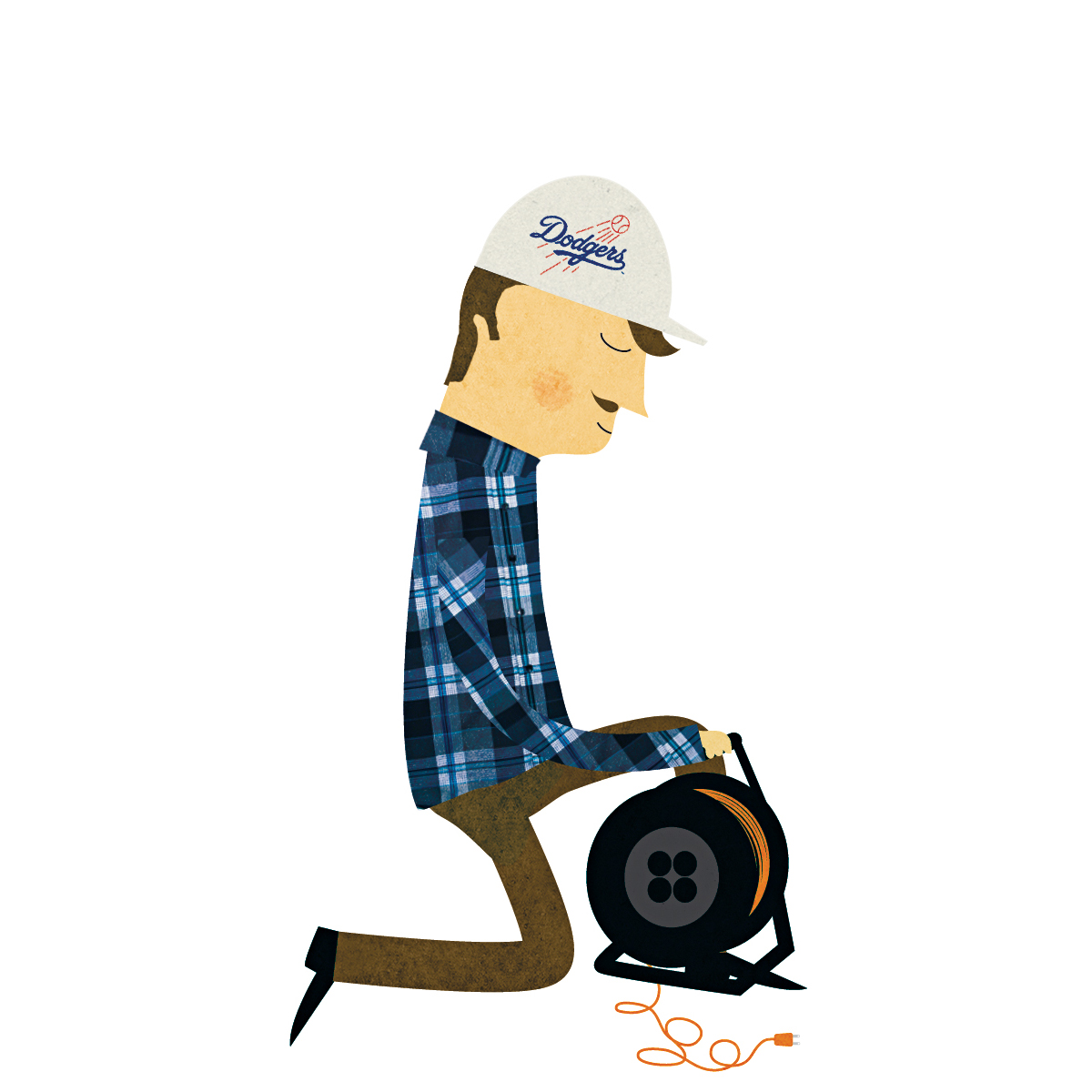 101 contractors illustration  hard hat