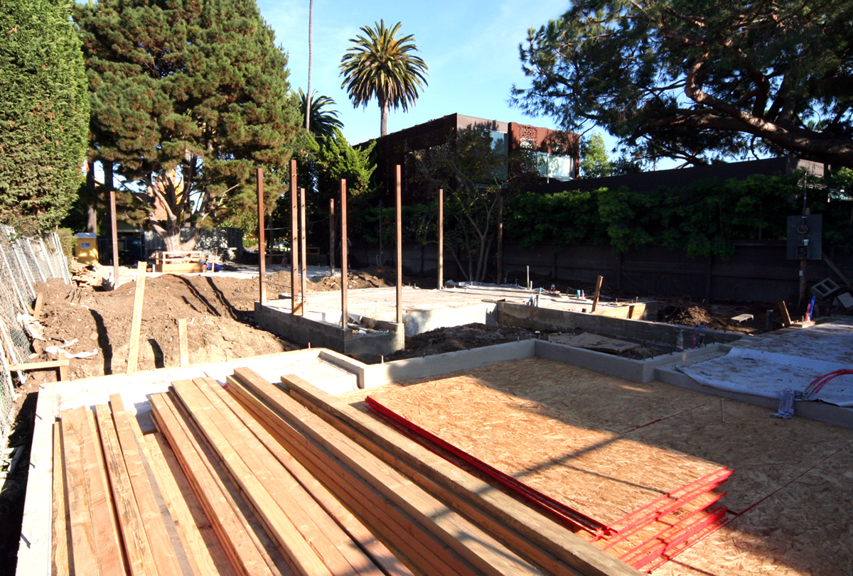 The first batch of wood was delivered by Crenshaw Lumber and so now we are ready to start framing.