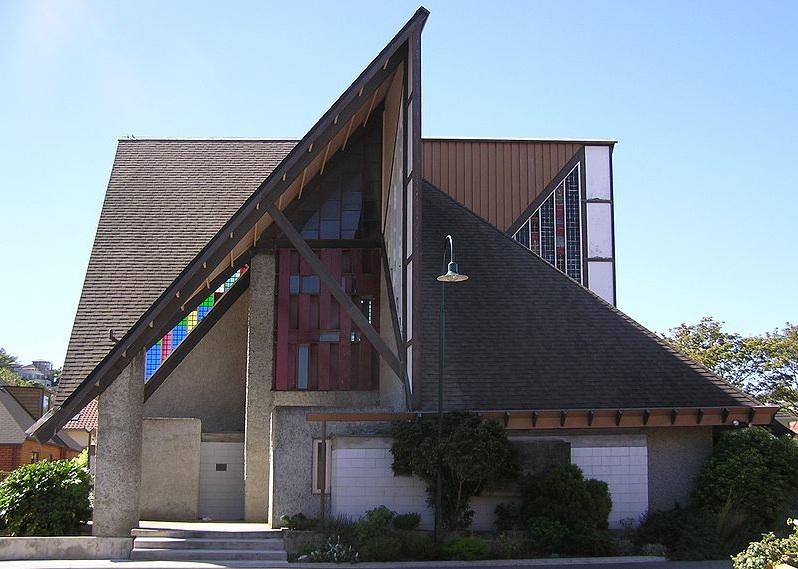 The John Scott-designed Futuna Chapel in Wellington, New Zealand.