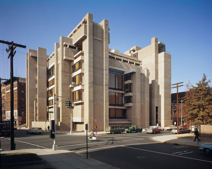 The Yale School of Architecture by Paul Rudolph in New Haven, CT.