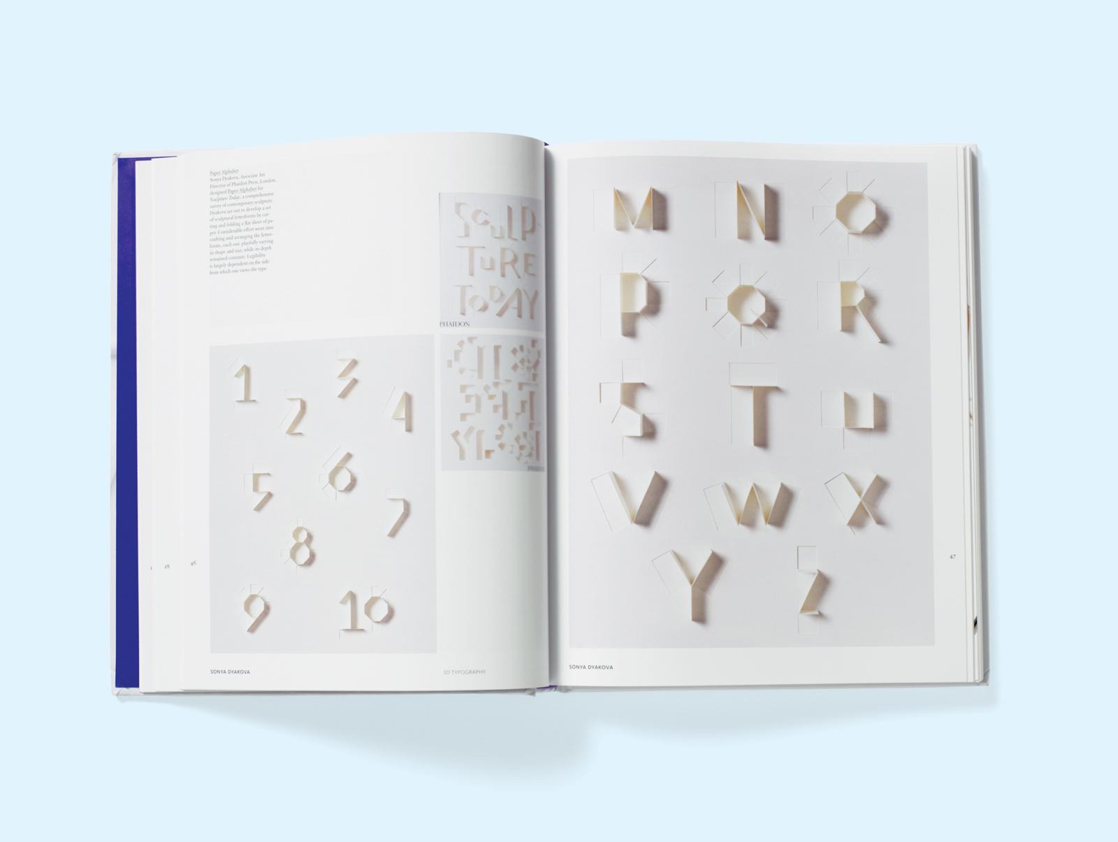 3d typography spread