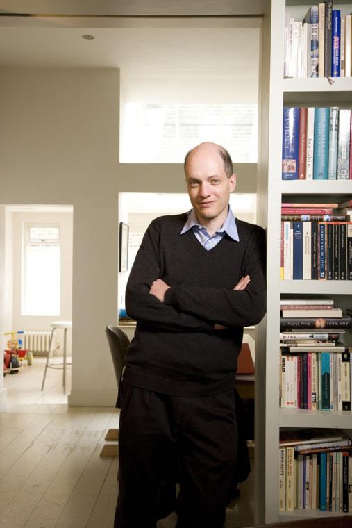 Here's a photo of Alain de Botton taken by Vincent Starr.