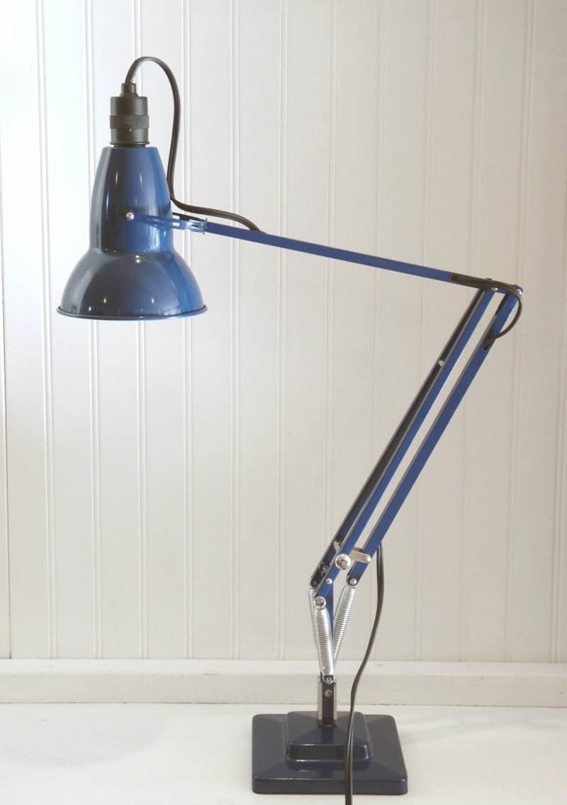 "Anglepoise Original 1227 Desk Lamp designed by George Carwardine for Anglepoise. ""Anglepoise lamps are still made in England by the family who began producing them in the 1940s. We love the floating feeling these lights have when you adjust them. We espec"