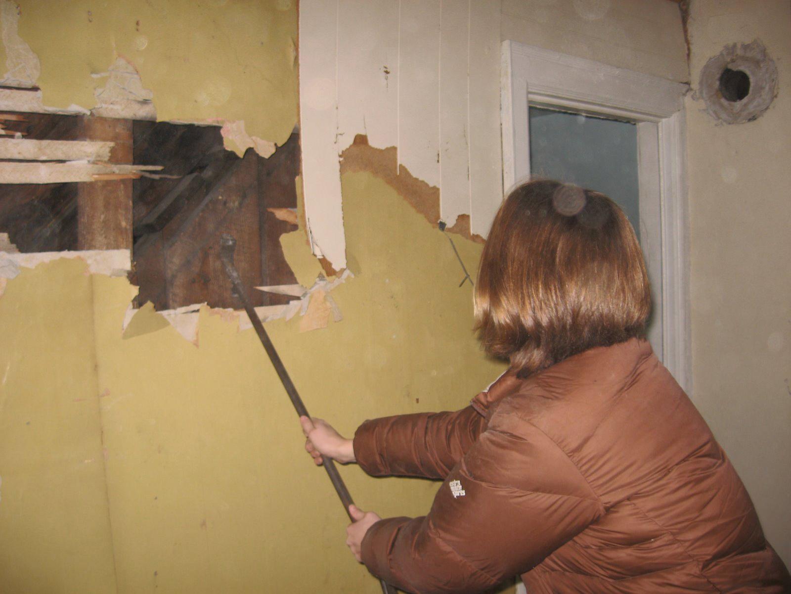 Buffalo Basics at 153 Eaton Street Wall Demolition