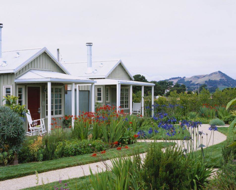 Here are a couple cottages at the Carneros Inn.
