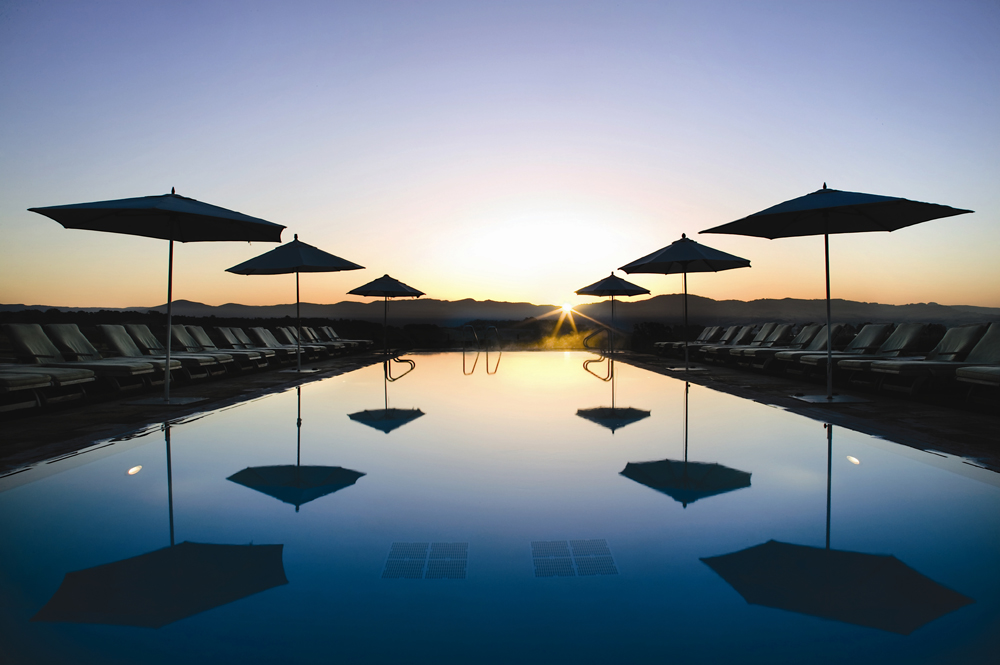 Considering how lovely the pool at the Inn is, there's plenty of reasons to be happy about the Carneros's commitment to green water practices.