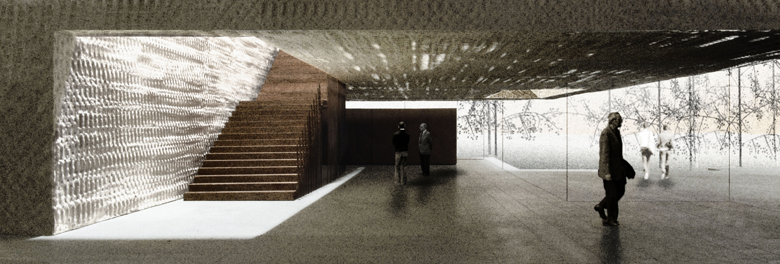 "Cloepfil said that his idea for the Clyfford Still Museum in Denver is ""that you're always going further and further in,"" as this stairwell will attest."