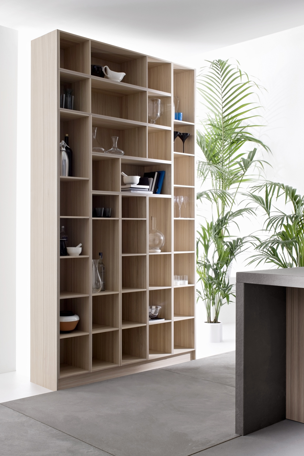 Code Natural kitchen by Snaidero Design open shelving