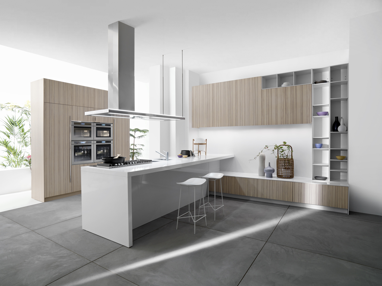 Code Natural kitchen by Snaidero Design reverse view