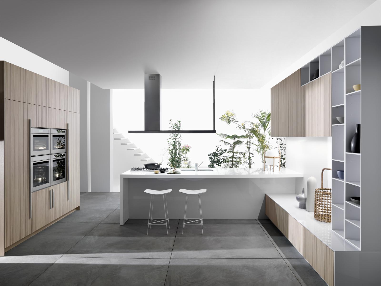 Code Natural kitchen by Snaidero Design straight shot
