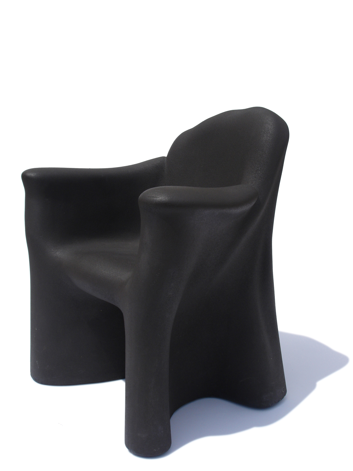 Dalila Tre chair, 1980, of molded polyurethane with epoxy resin.