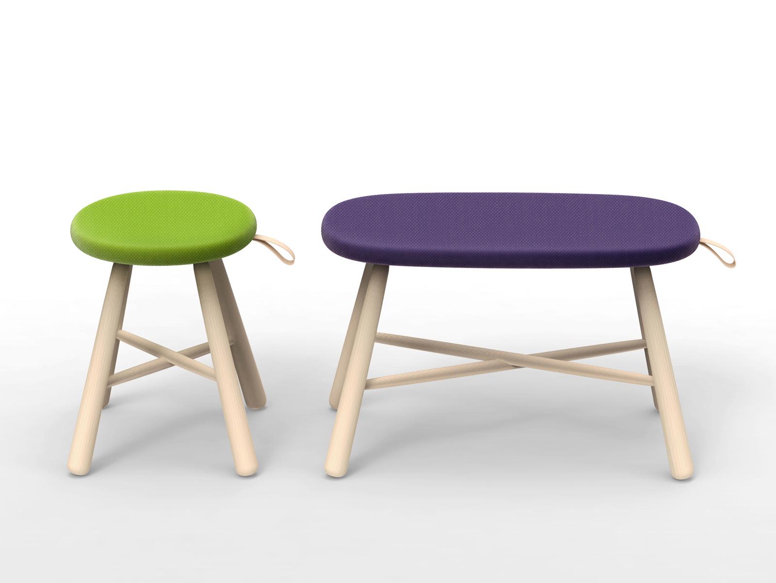 "<a href=""http://www.iwasaki-design-studio.net/"">Ichiro Iwasaki</a>'s Tag stool for Discipline."