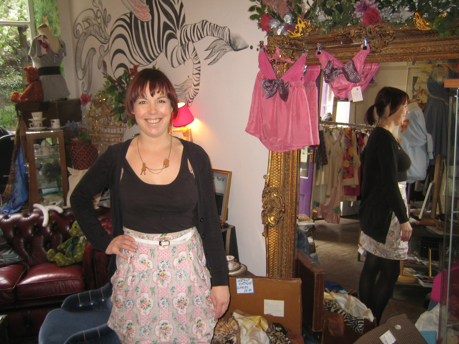 It was a rather cheery morning indeed as I popped in on Fleur Mackintosh and her vintage clothing and custom tailoring boutique, Godiva.