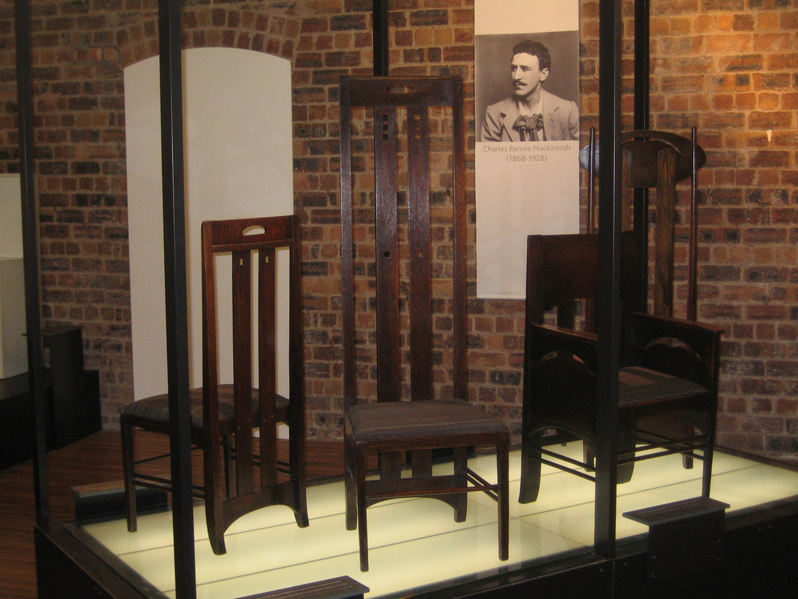 There is a little gallery of Mackintosh's furniture at the GSA. They have the largest collection in the world at over 200 pieces, but only a fraction of that are on display.