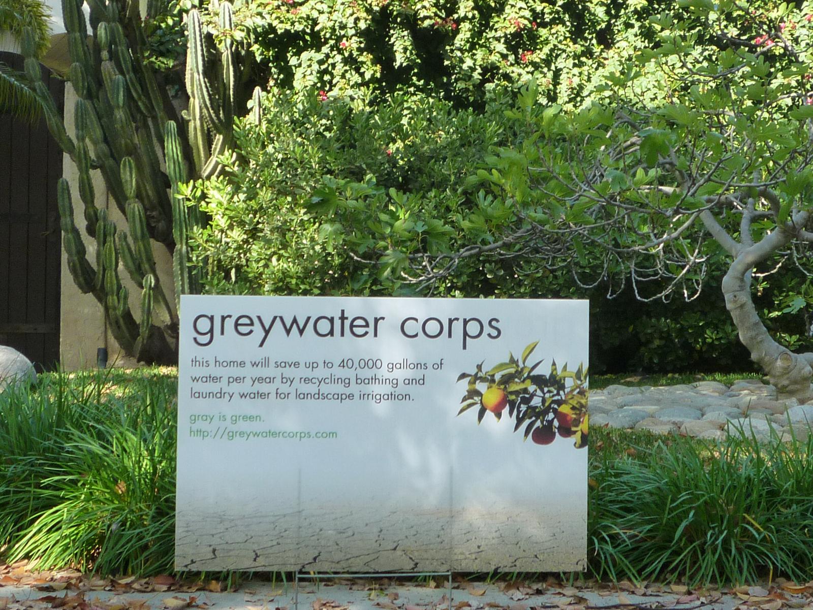 Greywater Corps Lawn Sign