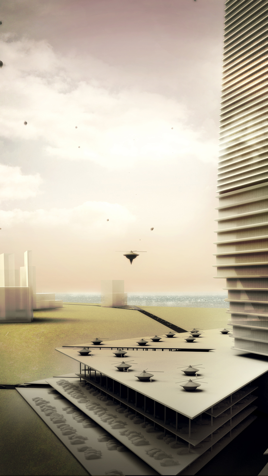 """Wright's Mile High Office Tower, dubbed """"The Illinois"""" was never realized. He hoped to capture all the life of a city in a single tower, turning it into a purely vertical experience. The animation is by Harvard Graduate School of Design professor Allen Sa"""