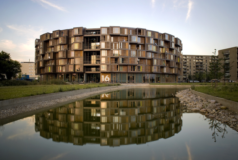 This dormitory, Tietgenkollegiet in Copenhagen, Denmark by Lundgaard & Tranberg Architects, was a surprising find on one of Kristal's trips. Photo by Jens Markus Lindhe.