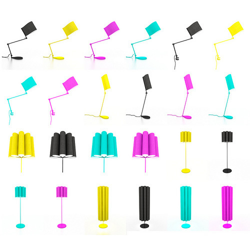Kjellgren Kaminsky paper fold lamps