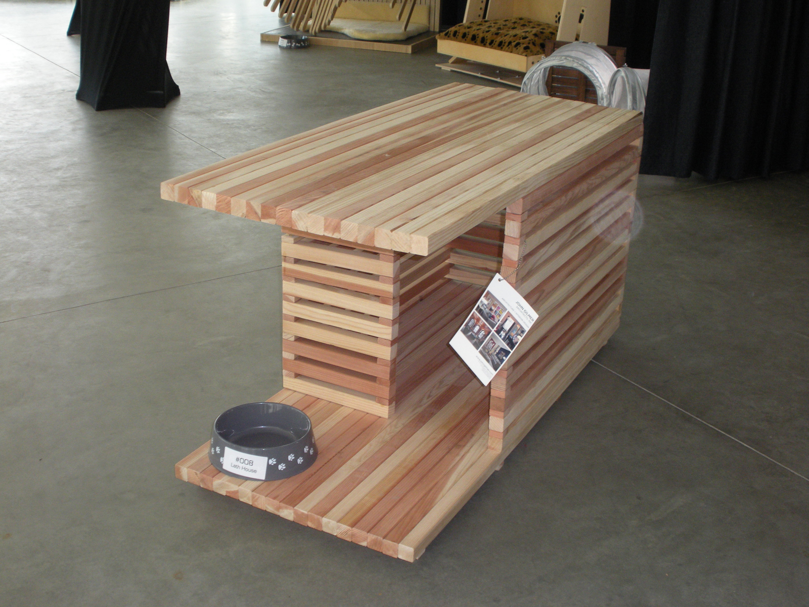 Lath House doghouse front