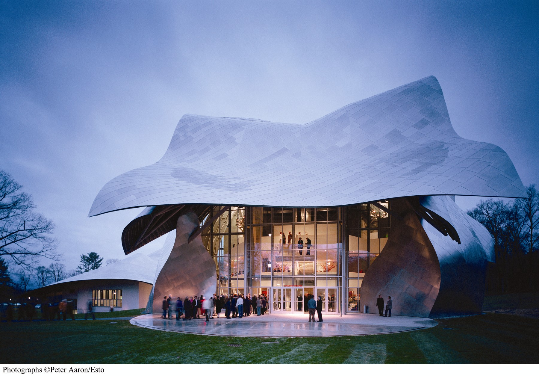 Frank Gehry's Disney Concert Hall in Los Angeles is certainly a star, though he made waves at Bard College with the Fisher Center long before. Photo by Peter Aaron.