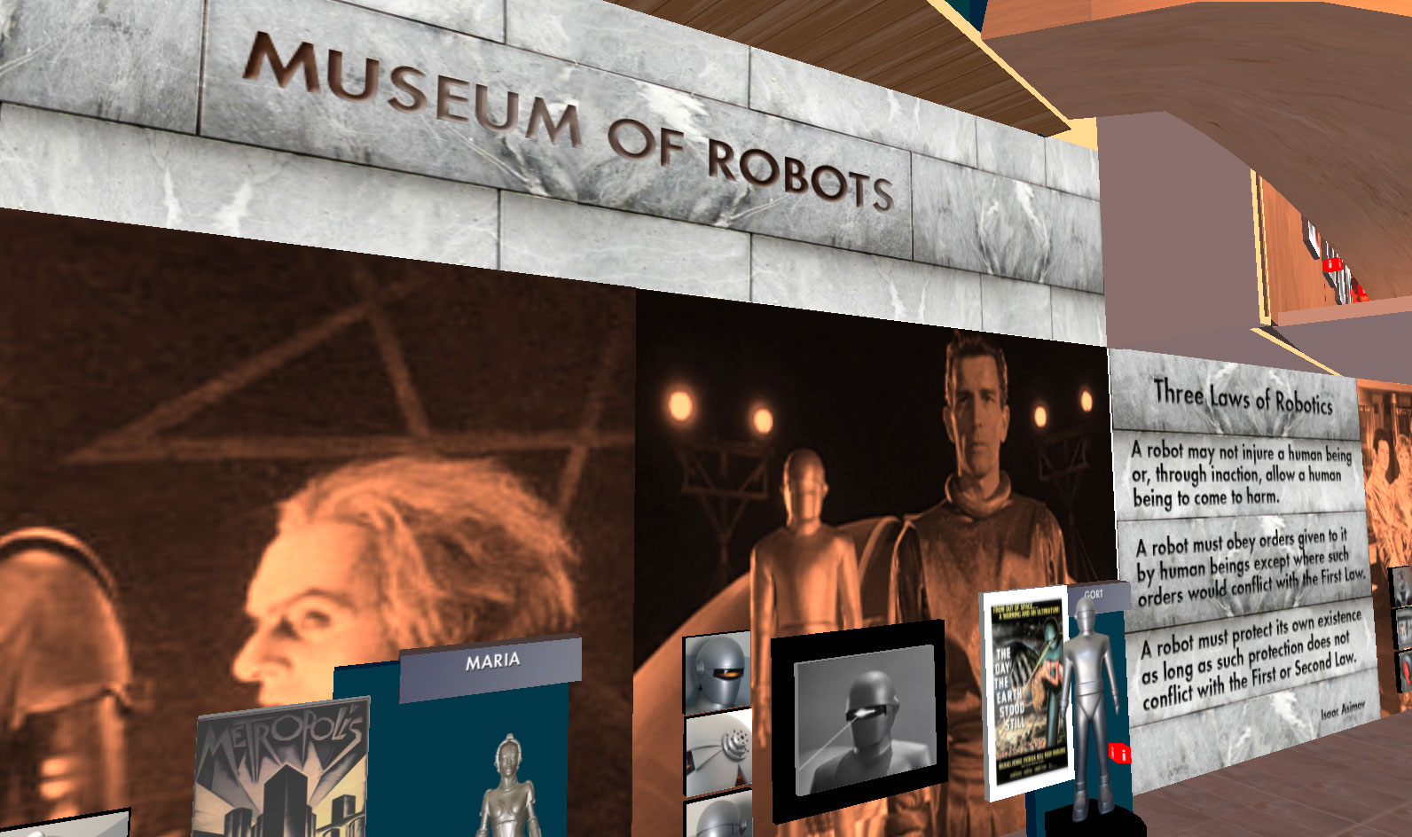 Museum of Robots SecondLife