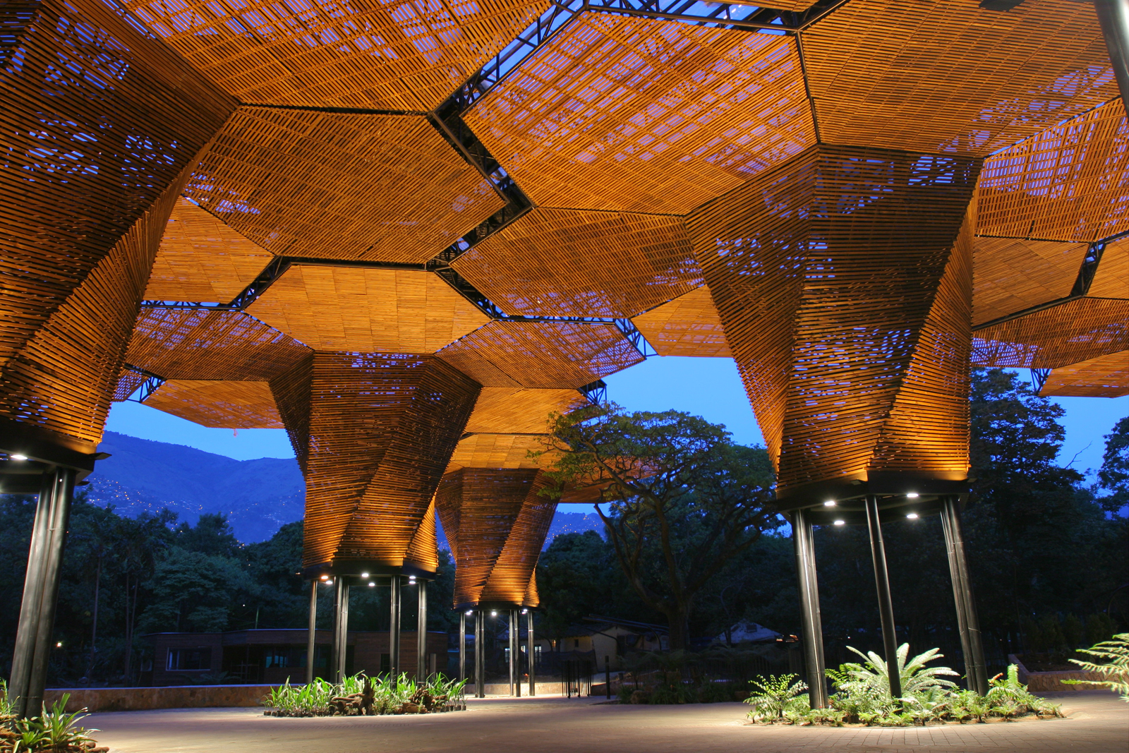 Medellín, Colombia, Jardin Botanico-Orquideorama (Botanical Garden). Alejandro Bernal (Colombian, b. 1973), Felipe Mesa (Colombian, b. 1975), Camilo Restrepo (Colombian, b. 1974), and J. Paul Restrepo (Colombian, b. 1944), PLAN B Architects. Colombia, 200