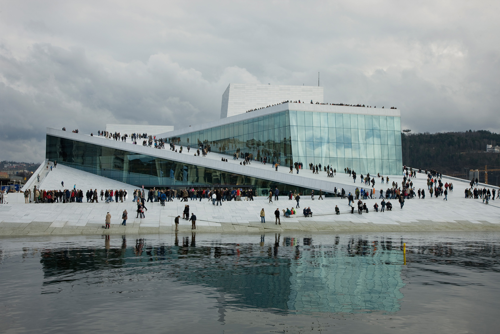 The New Norwegian National Opera and Ballet in Oslo, Norway. Photo by Jens Passoth, courtesy Snøhetta and SFMoMA.