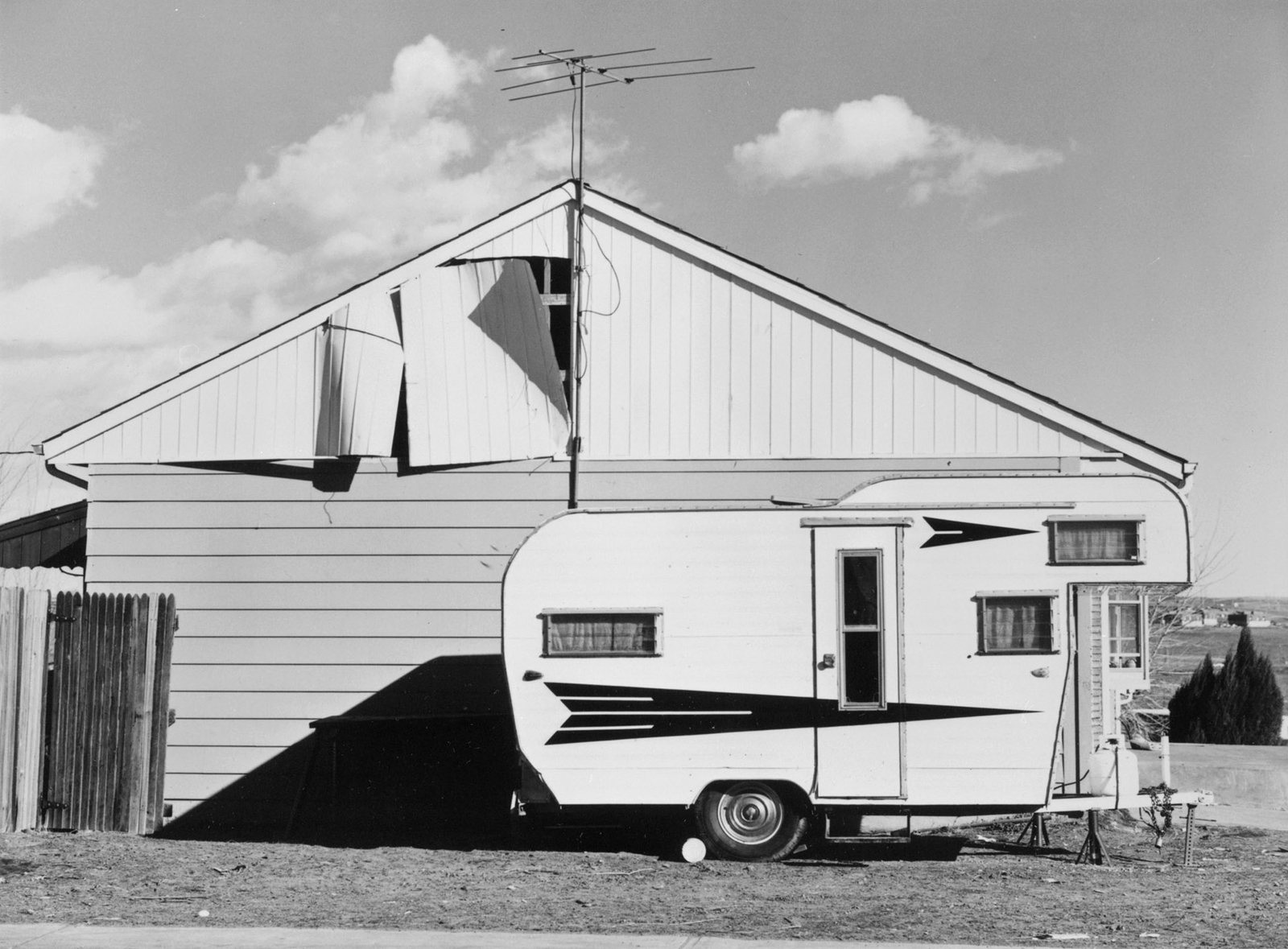 Robert Adams (American, b. 1937), <i>Tract House, Westminster, Colorado</i>, 1974; George Eastman House collections; © Robert Adams, courtesy of Fraenkel Gallery, San Francisco, and Matthew Marks Gallery, New York