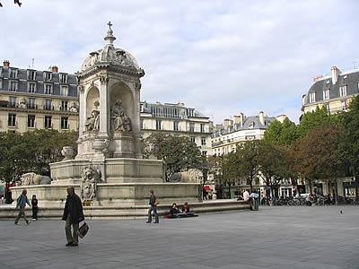 Place Saint Sulpice in Paris.