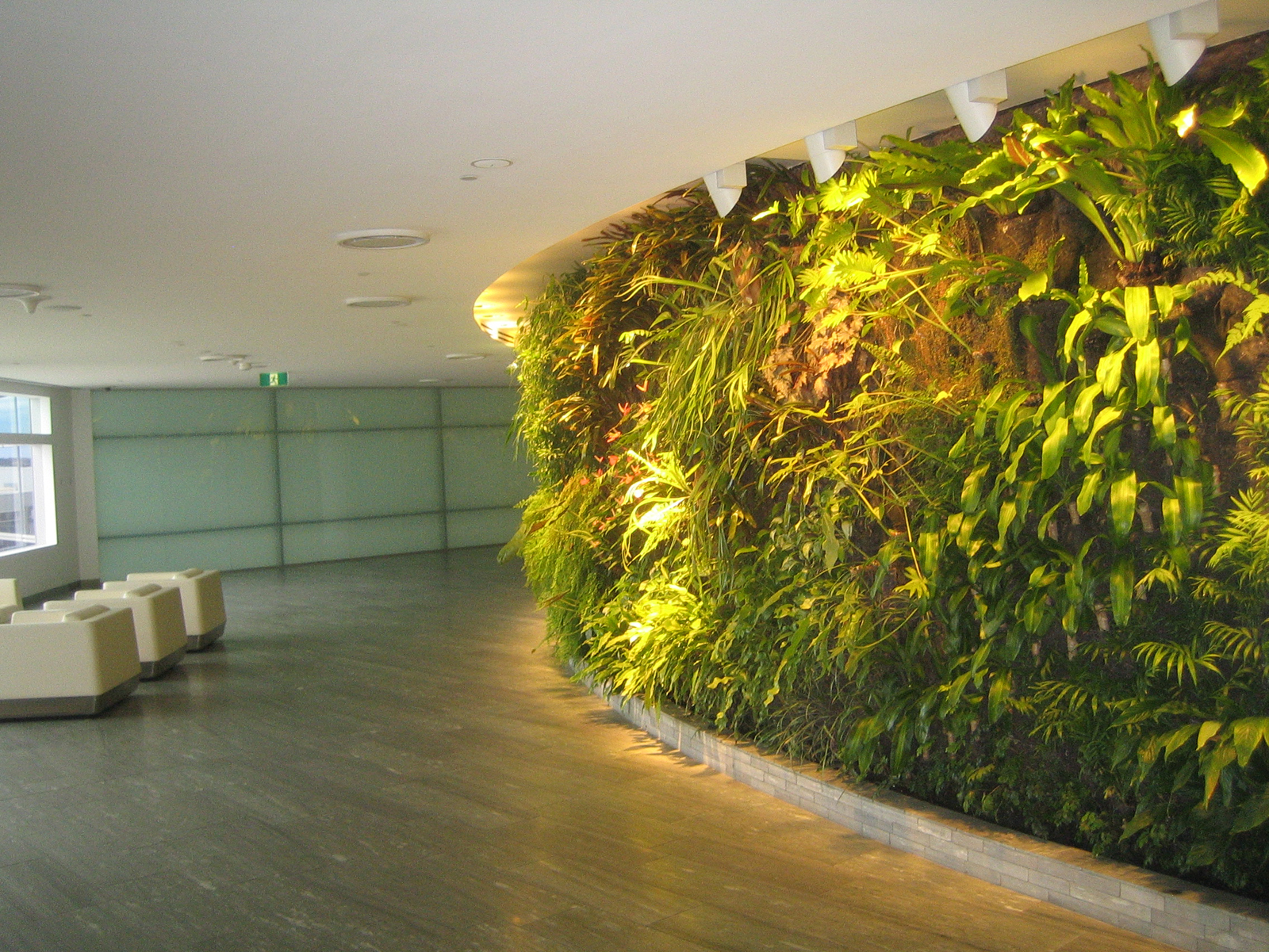 Qantas First Lounge Lobby