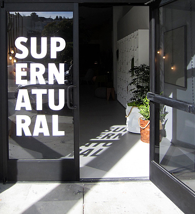 Supernatural's graphic logo features prominently on their front door.