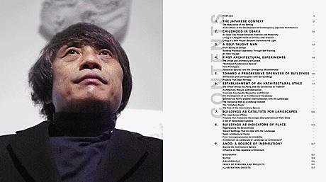 Tadao Ando book spread TOC
