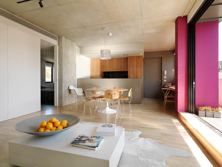 Ten Darling Apartments Living Kitchen Balcony