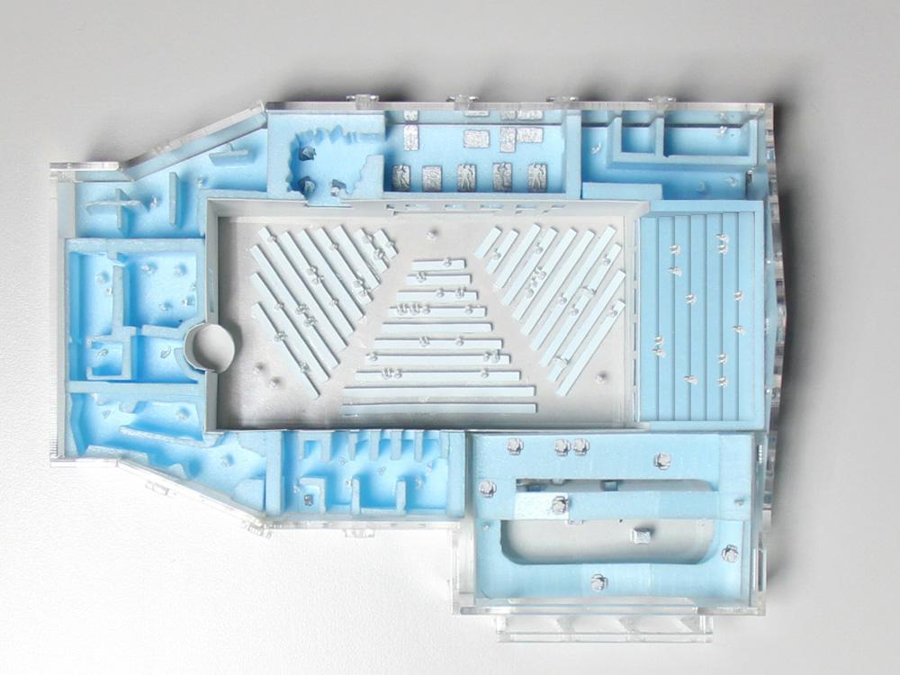 Model of the center's floorplan.