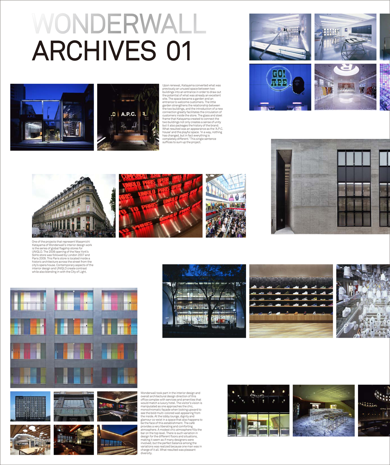 The cover of the new book Wonderwall Archives 01.