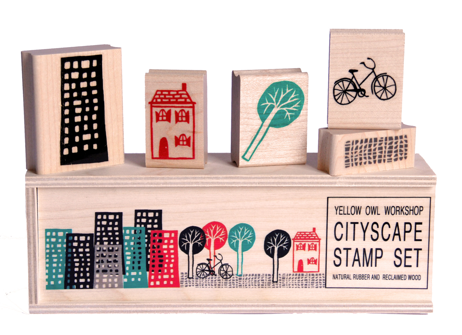 Yellow Owl Workshop Cityscape Stamps