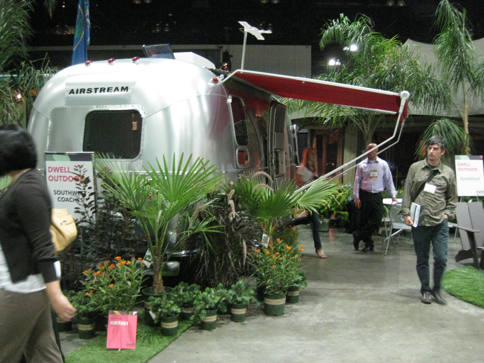 Also set up at the exhibition is the nineteen-foot-long Airstream Victorinox Special Edition Trailer.