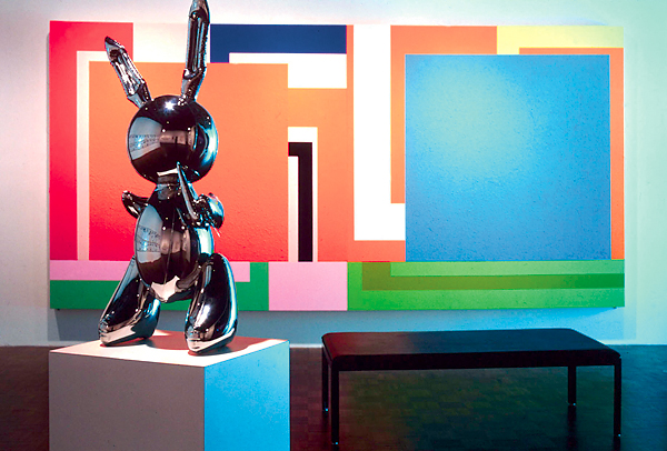 art collecting louise lawler bunny sculpture and painting 1999
