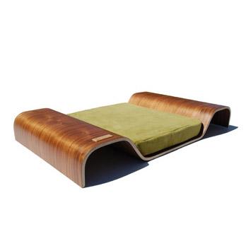 pet bed bent wood