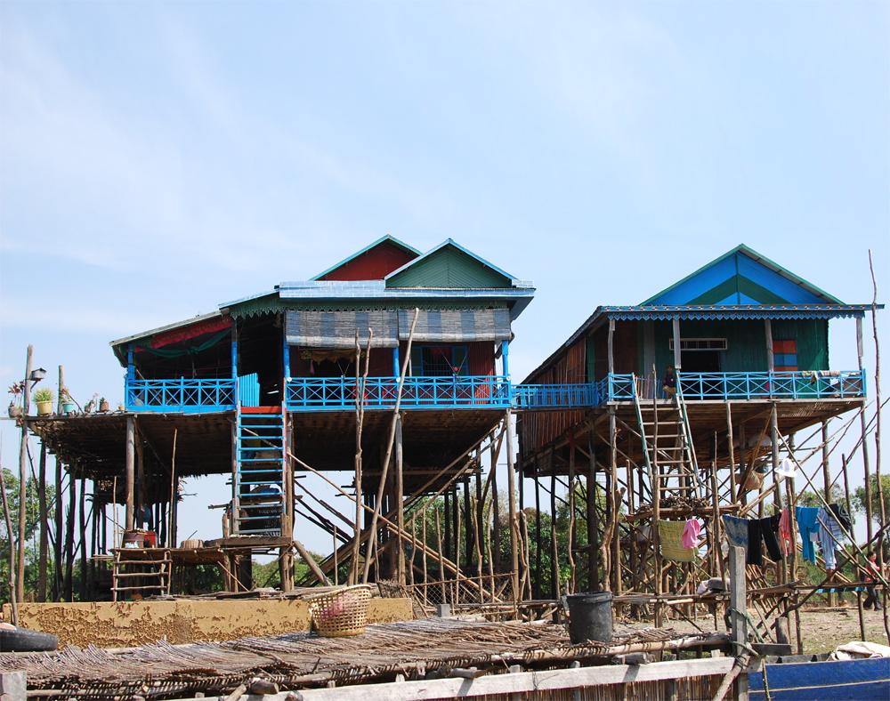 cambodia stilts blue