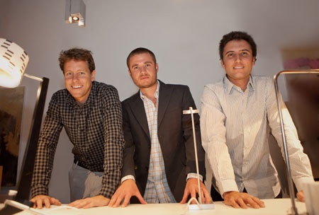 The three co-founders of Cerno. From left: Nick Sheridan, Bret Englander, and Dan Wacholder.