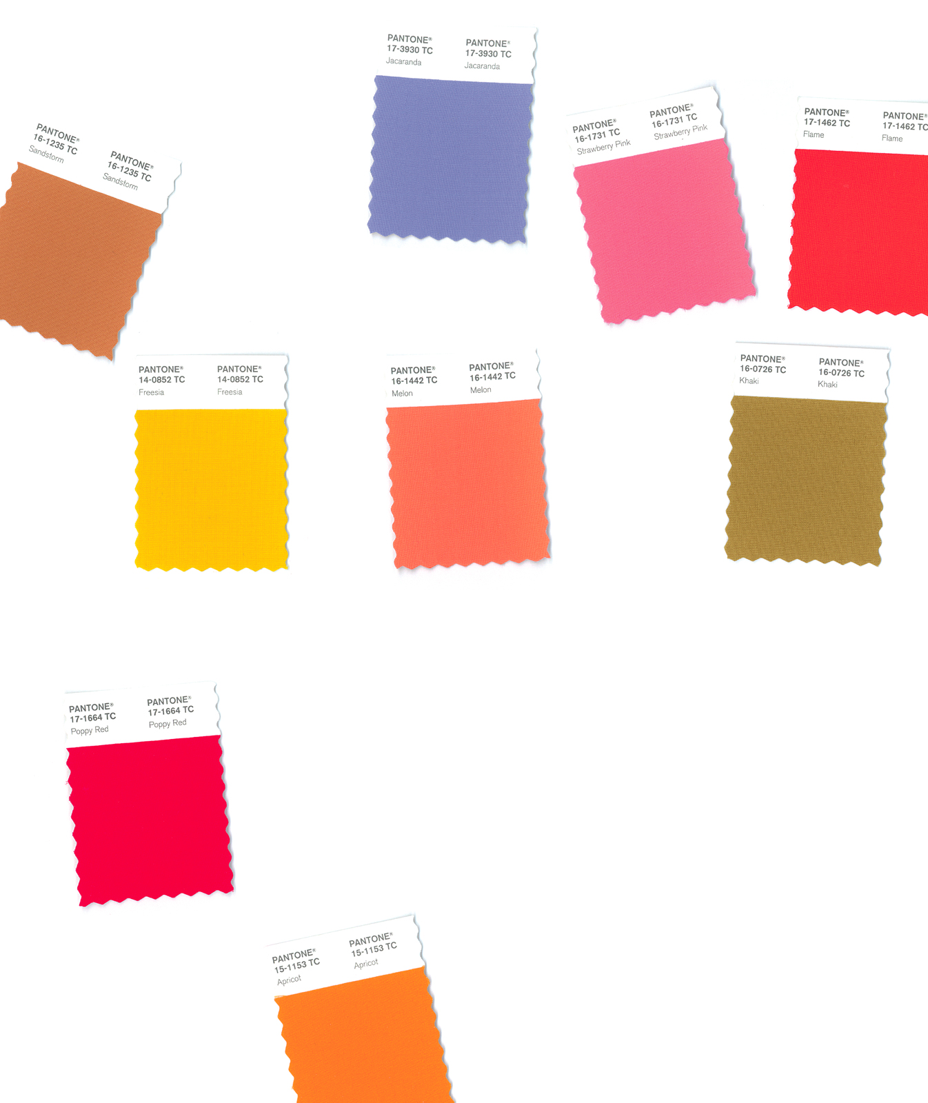 color chips pantone 2