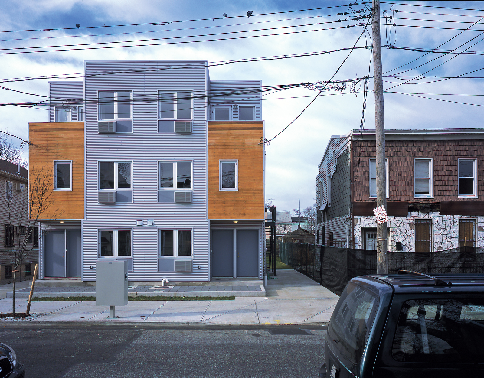 Modern low-income housing in Brooklyn