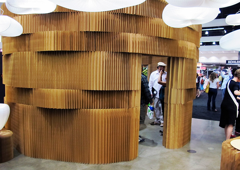 """When you walk into the convention center you're immediately presented with a bevy of paths to follow, but the first thing that grabbed my attention was this immense installation by the Vancouver based company, <a href=""""http://www.molodesign.com/"""">Molo</a>"""