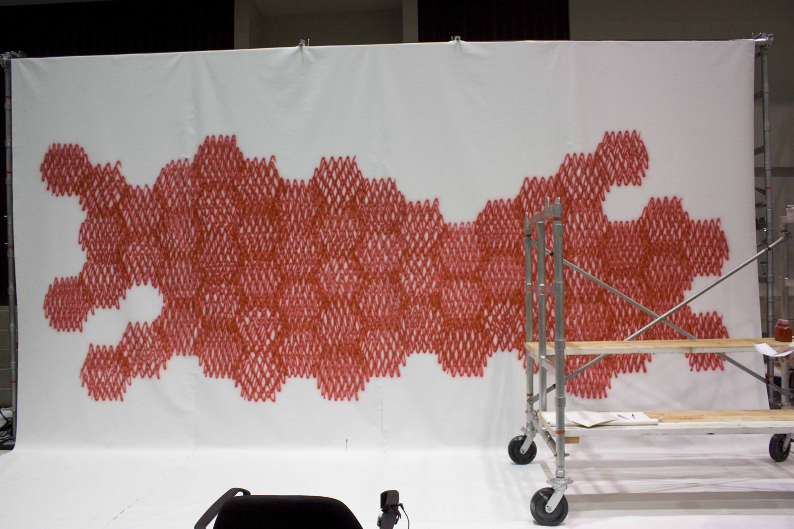Here's a look at the honeycomb-like pattern created by Sasaki on the Dwell on Design Show Floor.