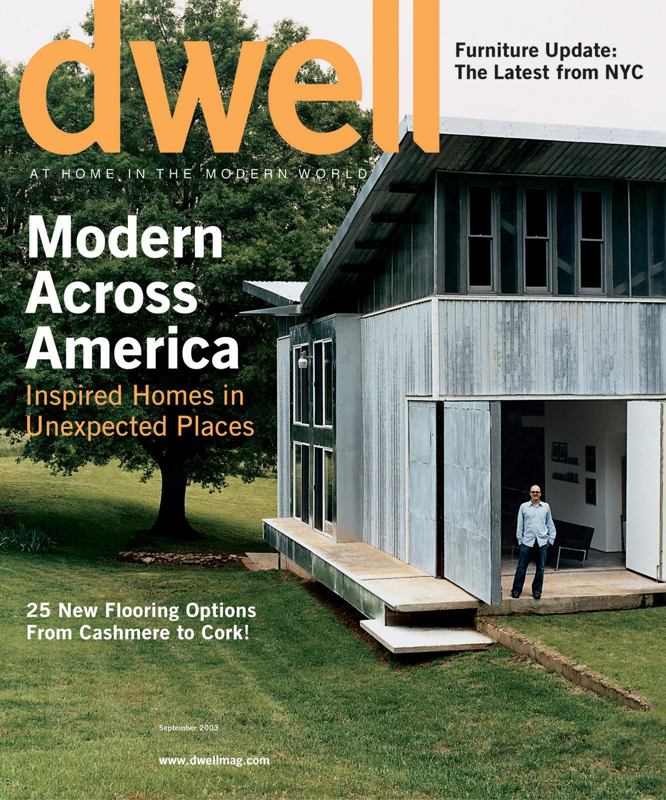 dwell cover 2003 september modern across america