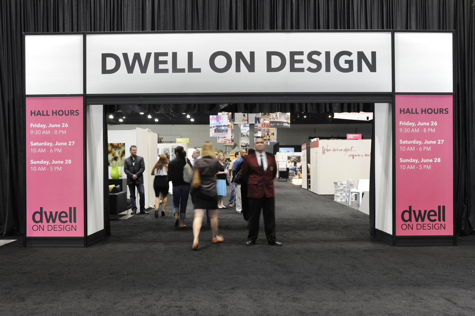 dwell on design exhibition entrance