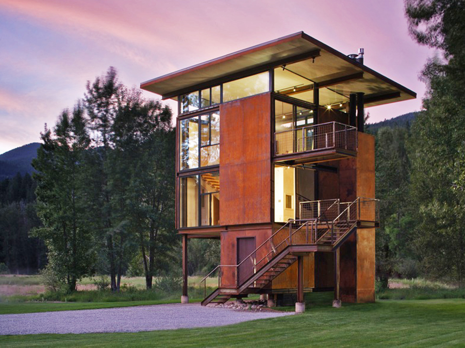 Delta Shelter, designed by Tom Kundig. Photo by Tim Bies, Olson Kundig Architects.